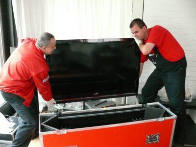 Schutzkoffer für TV-Geräte