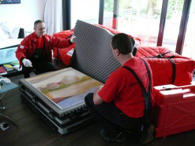 Schutzkoffer für Gemälde